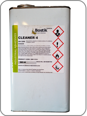 Latex Repair Bostik Solvent Cleaner No4