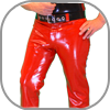 Mens Rubber Jeans Chaps Latex Hosen