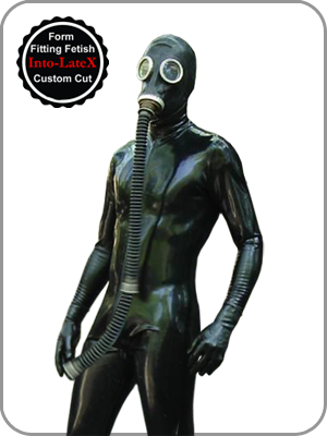 Latex Rubber Shoulder Zip Catsuit With Codpiece Latex